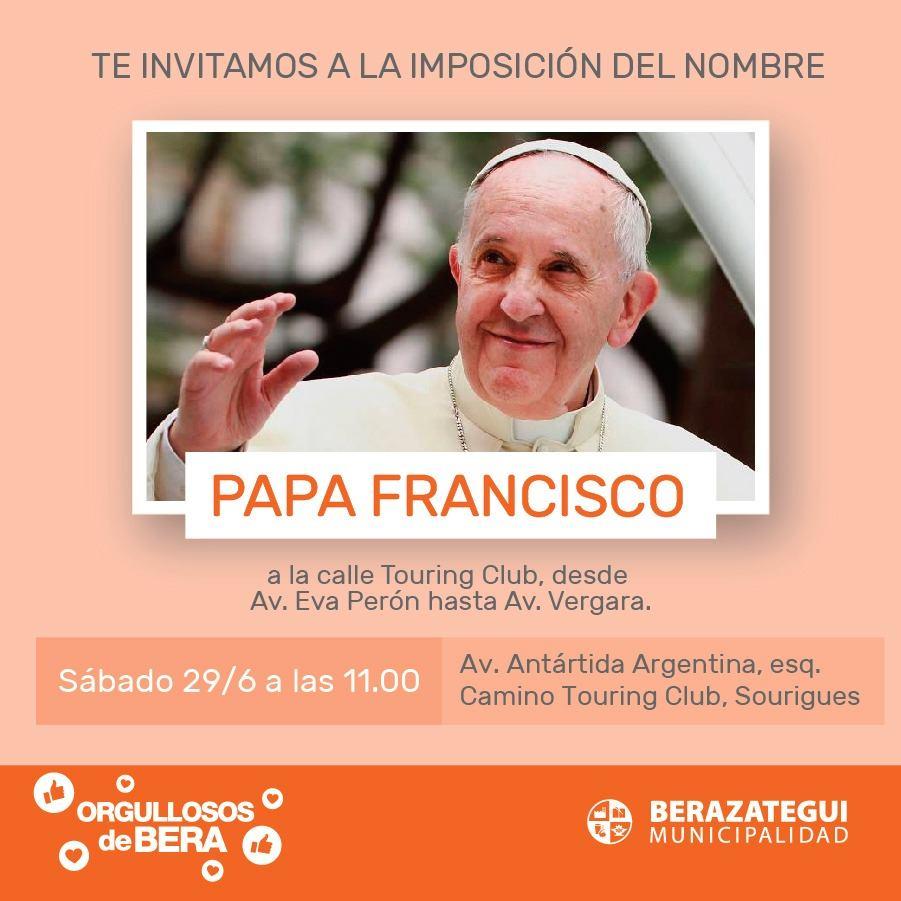 Papa Francisco, en Berazategui.