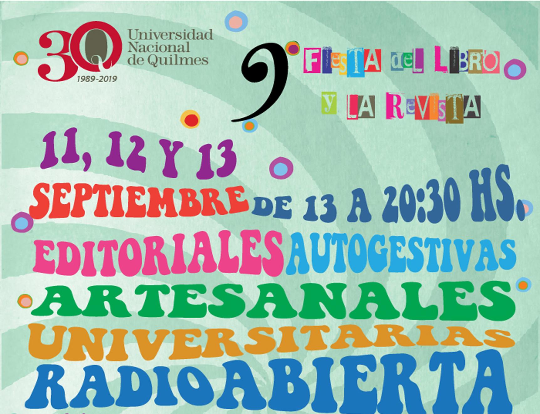 Fiesta del Libro en la UNQ.