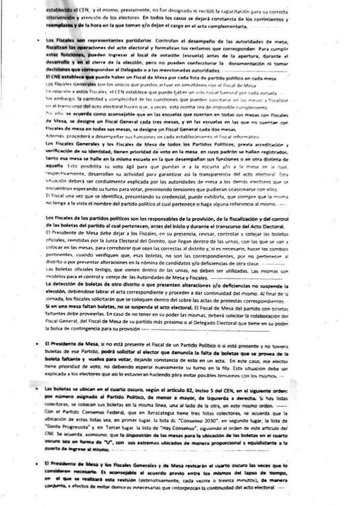 PASO 2019. Acuerdo entre apoderados en Berazategui.