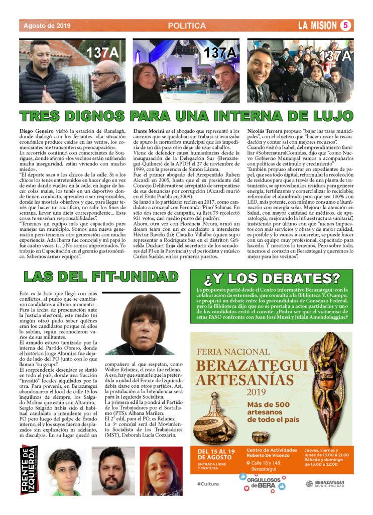 Periódico La Misión, de Ranelagh.