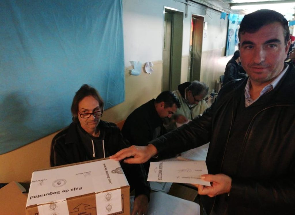Dante Morini vota. PASO 2019.